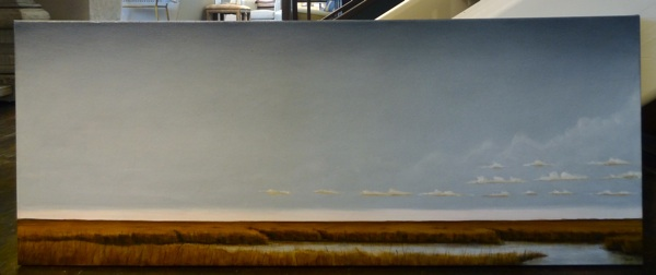 """Alligator"" by Brent Smith. 16"" x 40"" $1100"