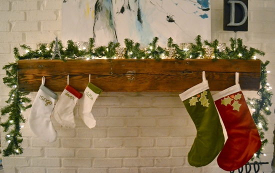 Christmas Mantle | The Lovely Bee