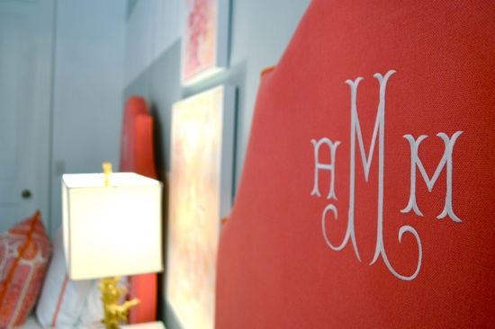 Monogrammed Headboard | SummerHouse, Ridgeland, MS