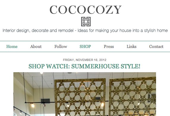 SummerHouse is on COCOCOZY!