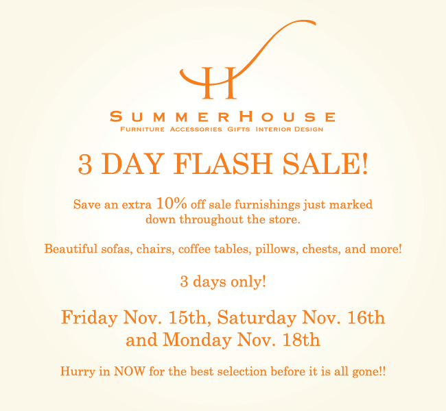 FLASH SALE going on now!