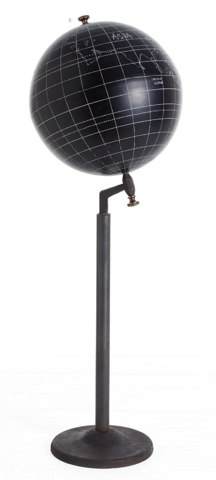 Gaia Aluminum Globe on Iron/ Brass Stand
