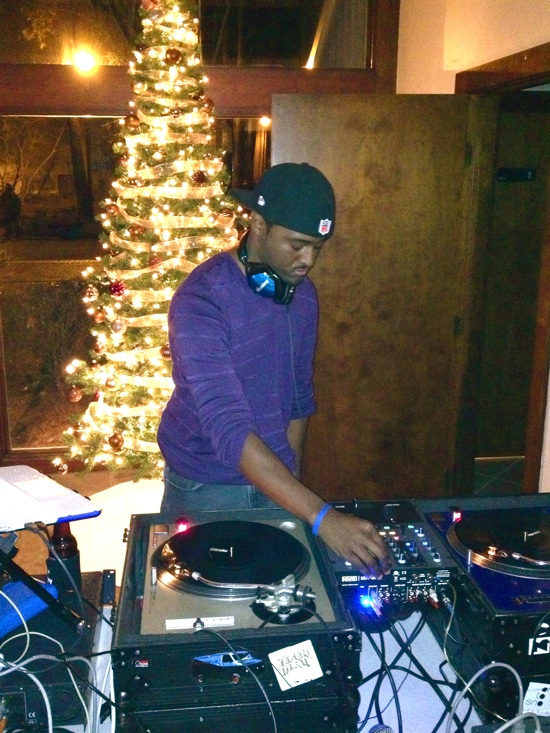 DJ Young Venom at the SummerHouse Christmas Party