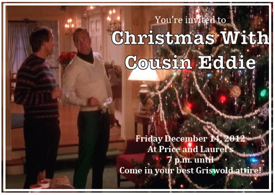 christmas with cousin eddie invitation