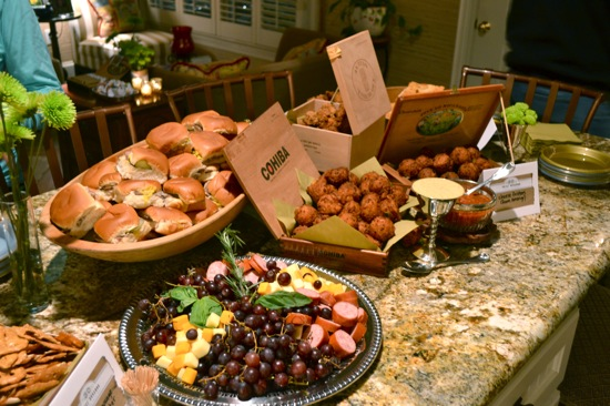 Food spread at 30th Cigar Birthday Party
