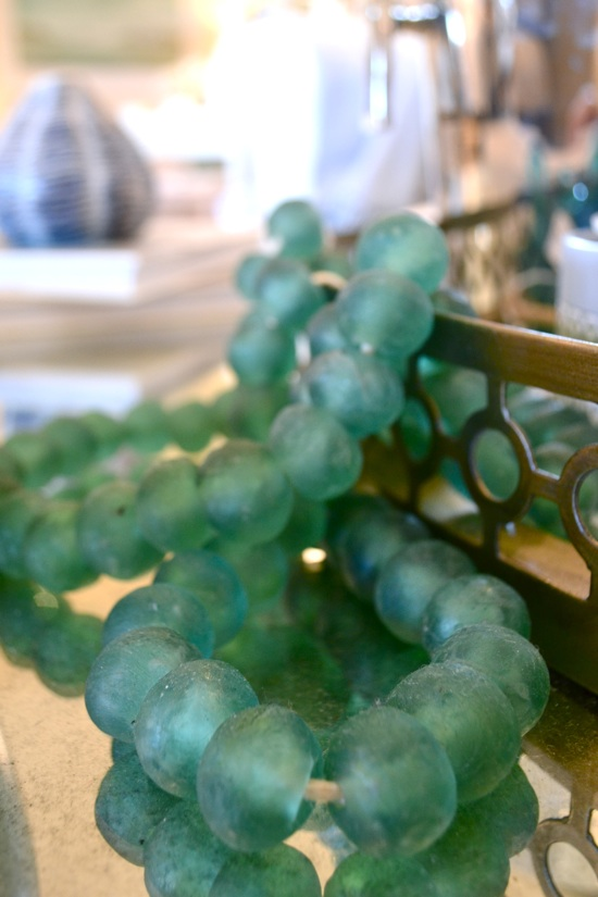 Gorgeous Greens: Glass beads