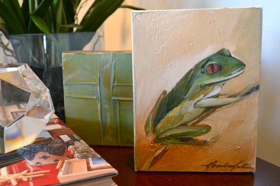 Gorgeous Greens: Small Lauren Barksdale Paintings