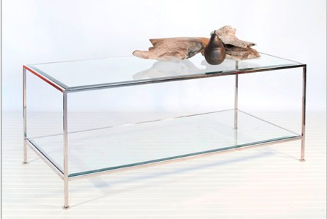The Taylor Rectangle Nickel Coffee Table from Worlds Away (similar item)