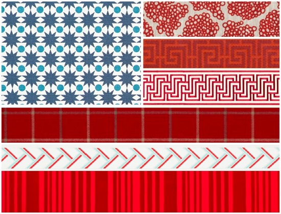 Designer Fabric Flag // SummerHouse, Ridgeland, MS