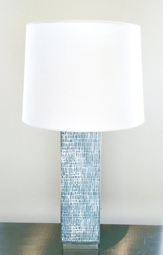 Aqua Crackle Lamp by Waylande Gregory :: The SummerHouse staff's favorite lamps