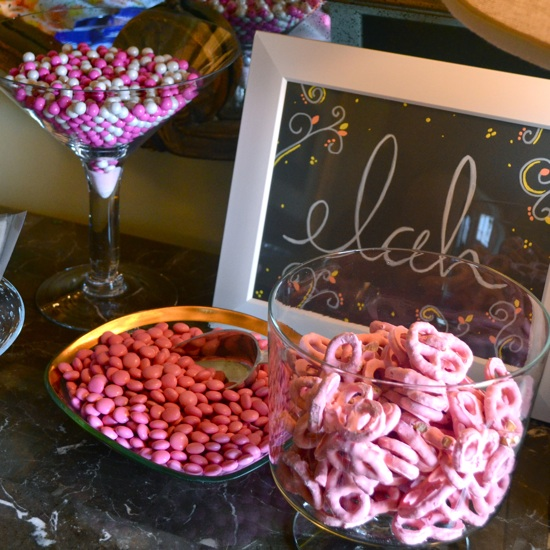 baby shower candy bar // the lovely bee