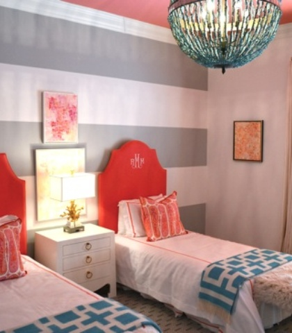 Girl's Bedroom design by Lisa Palmer // SummerHouse