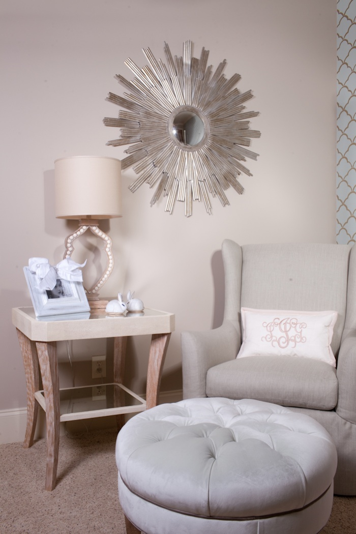 Soft + Pretty Nursery // by designers Chelsea Sirmons and Lindsey Townsend // SummerHouse