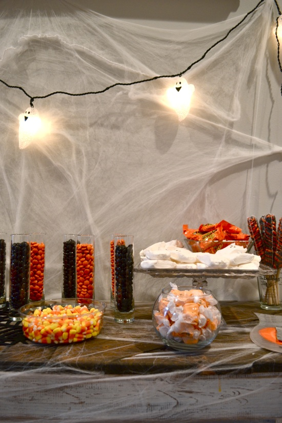 Halloween candy bar //  J&K's Pumpkin Laceration Celebration featured on { THE HIVE }