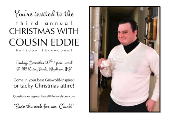 Christmas With Cousin Eddie // Christmas Vacation themed party // { THE HIVE }