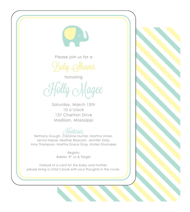 Green and Yellow Baby Shower Ideas
