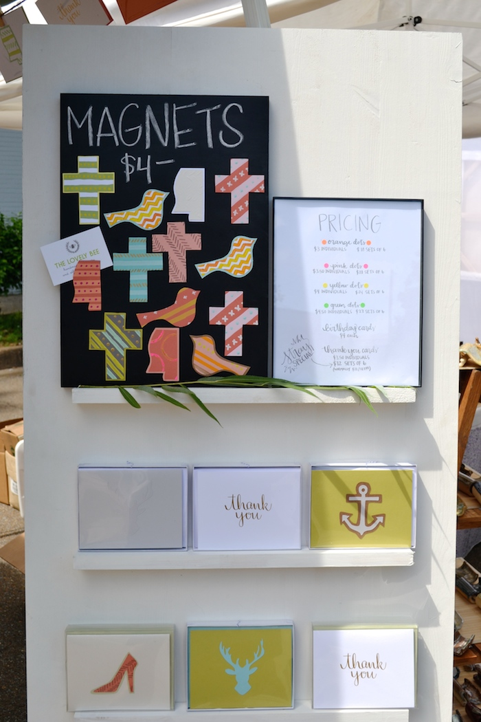 The Lovely Bee booth at Stray at Home Art and Music Festival 2014 // THE HIVE