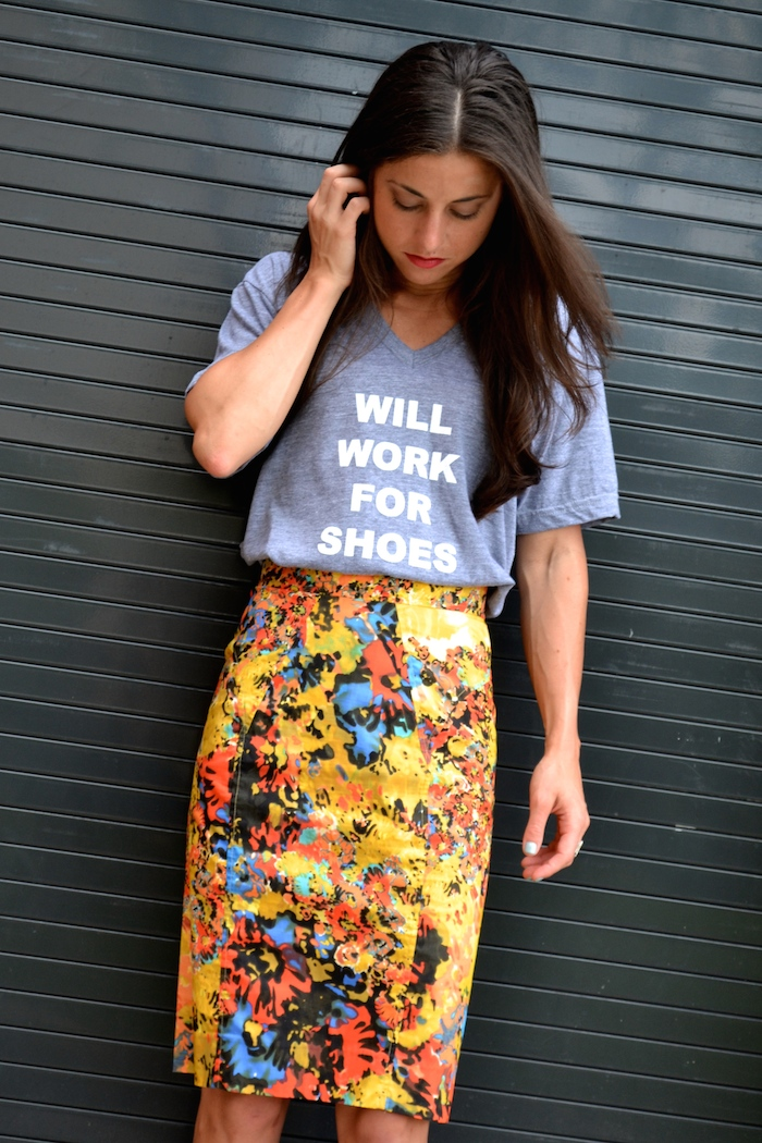 Will Work For Shoes tee available exclusively at Arco Avenue! // THE HIVE + www.arcoavenue.com