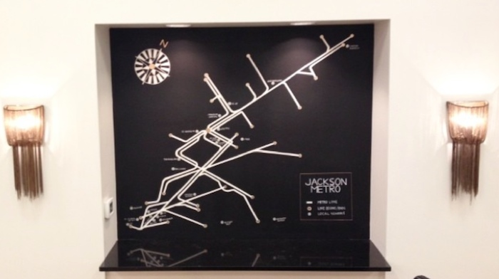 Jackson Metro Map at Arco Avenue // THE HIVE